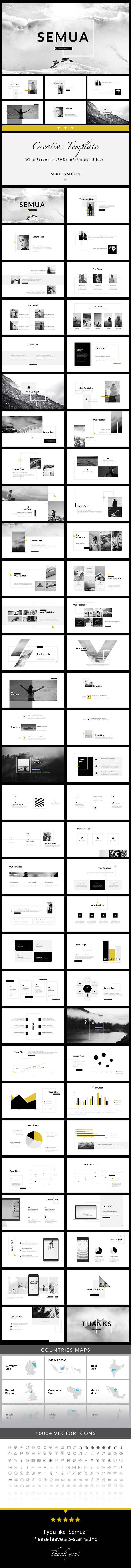 Semua - Keynote Presentation Template - Creative Keynote Templates