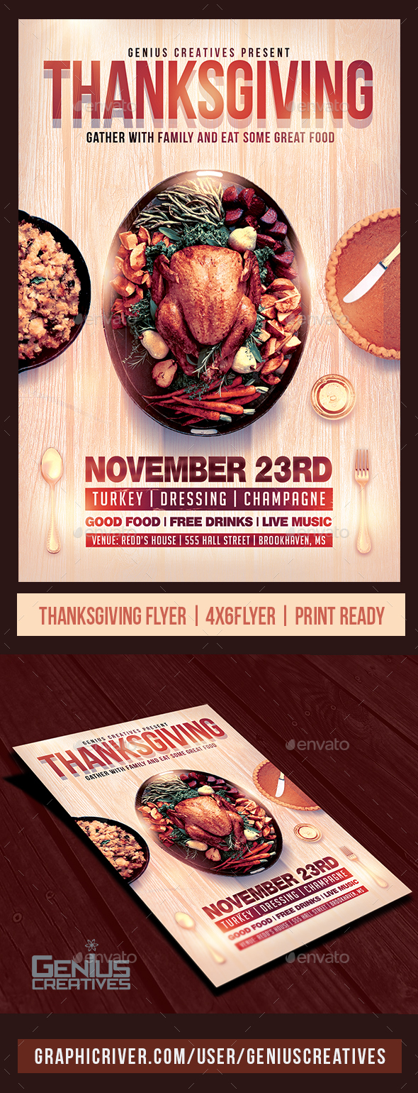GraphicRiver Thanksgiving Flyer Template v3 20896937