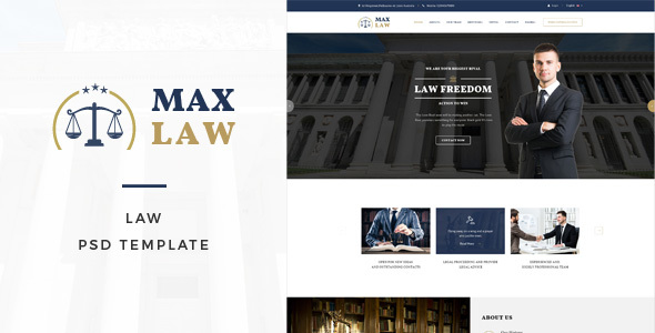 ThemeForest Max Law Lawyer & Attorney HTML Template 20897044