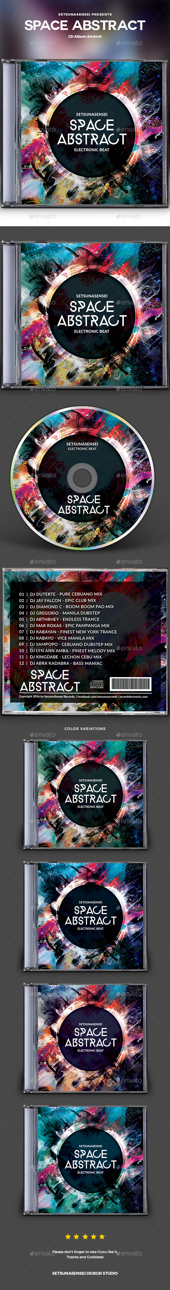 GraphicRiver Space Abstract CD Album Artwork 20897096