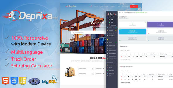 Courier Deprixa Pro - Integrated Web System v3.2.5 - CodeCanyon Item for Sale
