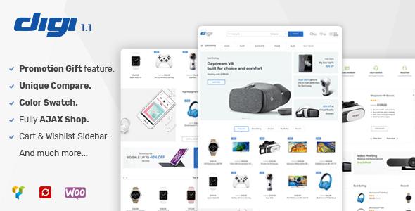 Image of Digi - Electronics WooCommerce Theme (Promotion Gift Feature)