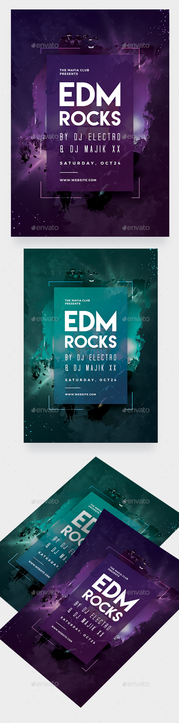GraphicRiver EDM Party Flyer 20897426