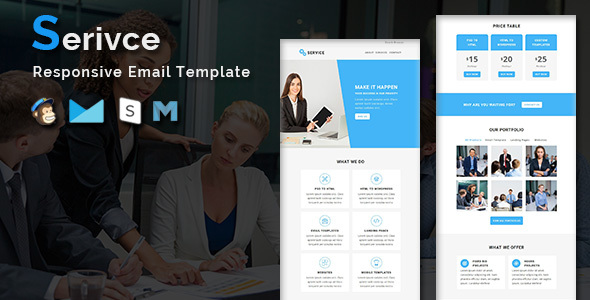 Service - Multipurpose Responsive Email Template With Stamp Ready Builder Access - Newsletters Email Templates