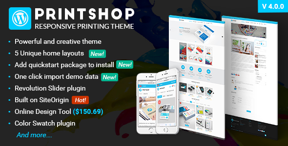 Printshop - WordPress Responsive Printing Theme - eCommerce WordPress