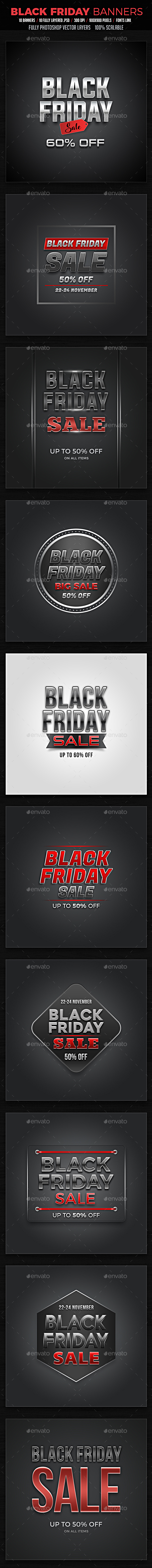 GraphicRiver Black Friday Banners 20897986