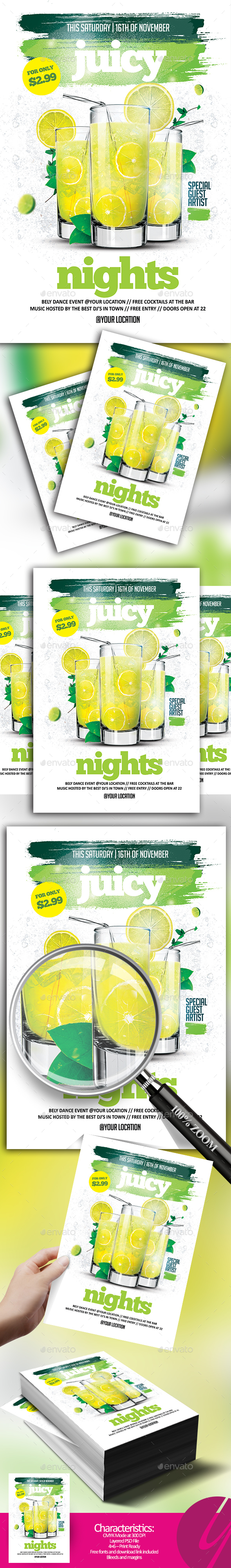Juicy Nights - Events Flyers