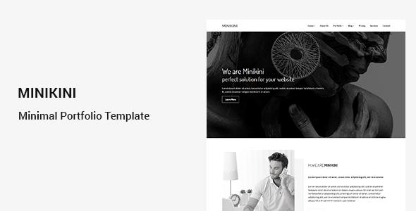 Minikini - Minimal Portfolio Template - Portfolio Creative