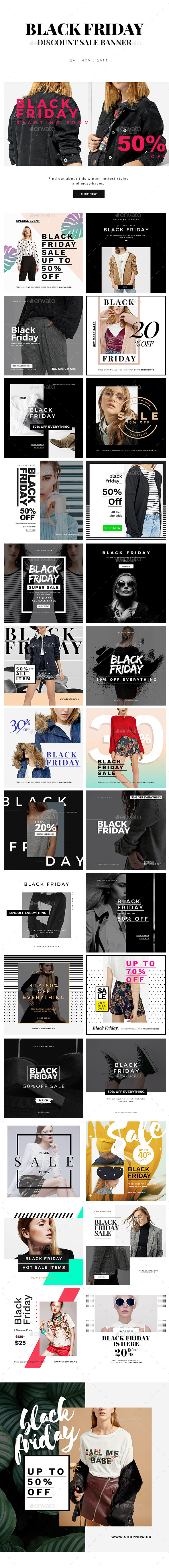 Black Friday Discount Sale Instagram Banner - Social Media Web Elements