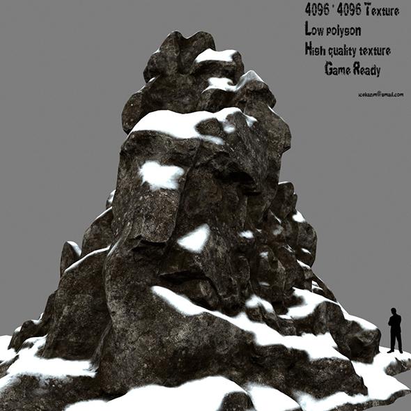 snow rock - 3DOcean Item for Sale