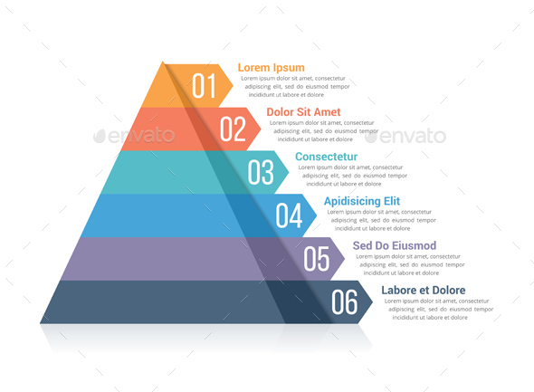 GraphicRiver Pyramid with Six Elements 20898502