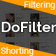 DoFilter - Bootstrap Multipurpose Filtering and Shorting