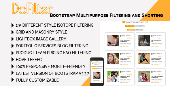CodeCanyon DoFilter Bootstrap Multipurpose Filtering and Shorting 20898520