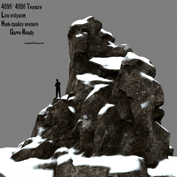 snow rocks 1 - 3DOcean Item for Sale
