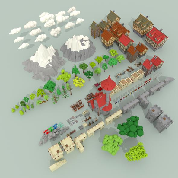 Medieval City Pack - 3DOcean Item for Sale