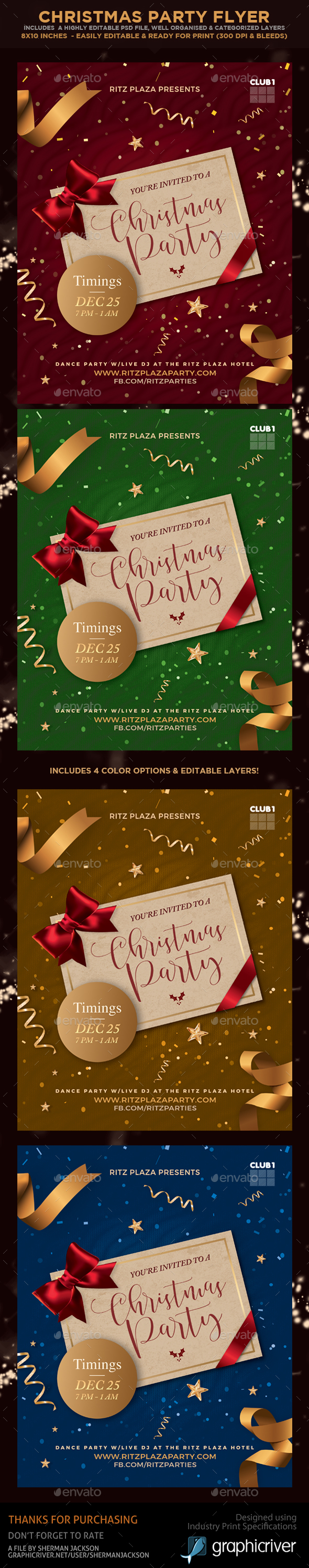 Christmas Party Flyers - Holidays Events