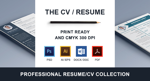 Awesome Corporate CV-Resume Collection