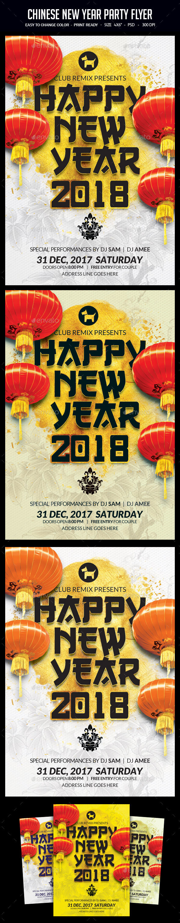 Chinese New Year Party Flyer - Clubs & Parties Events