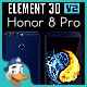 Huawei Honor 8 Pro for Element 3D - 3DOcean Item for Sale