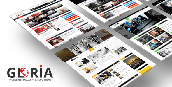 Gloria - Responsive eCommerce News Magazine Newspaper WordPress Theme Free Templates