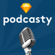 Podcasty - Podcast Sketch Template
