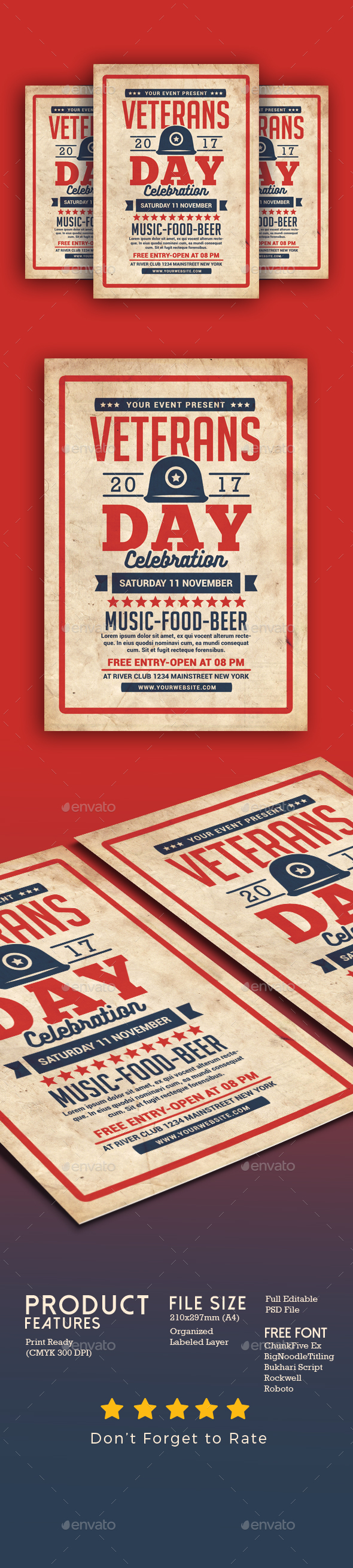 GraphicRiver Veterans Day Flyer 20899067