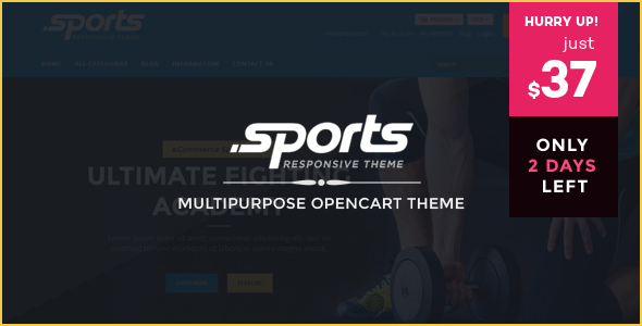 Sports - Responsive OpenCart Theme - OpenCart eCommerce