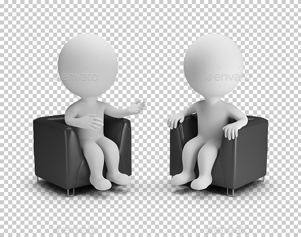 3D Small People - Conversation - Characters 3D Renders