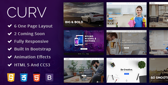 CURV: One Page Multipurpose Parallax - Creative Site Templates