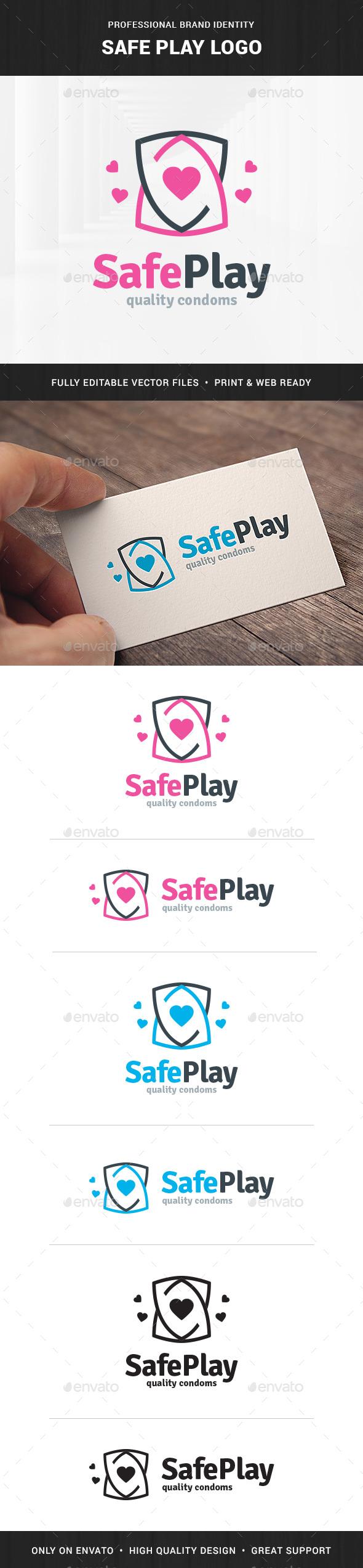 Safe Play Logo Template - Crests Logo Templates