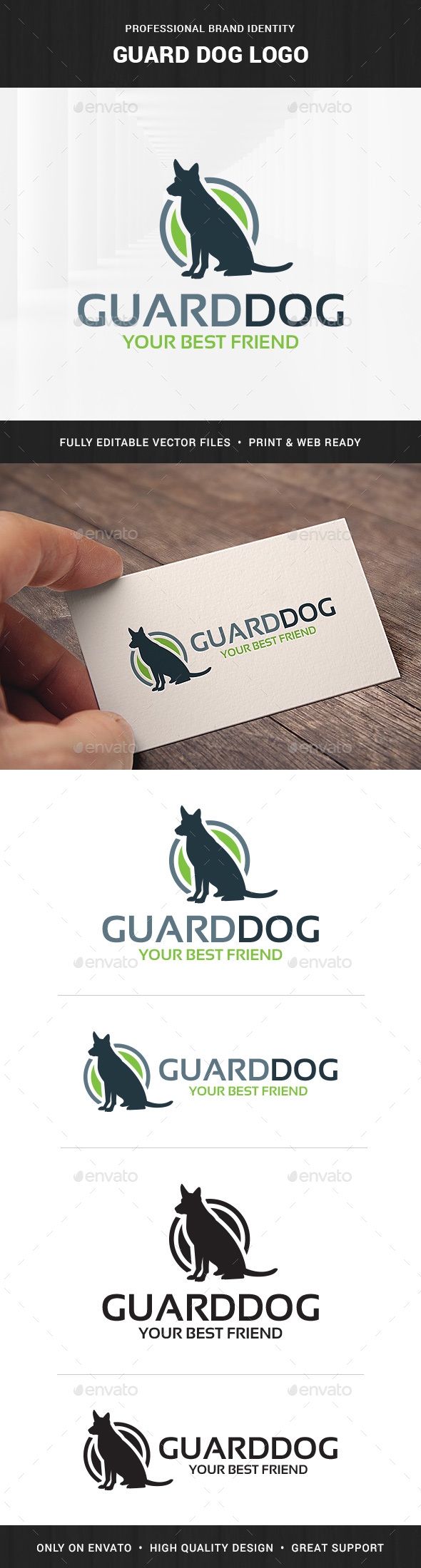 Guard Dog Logo Template - Animals Logo Templates