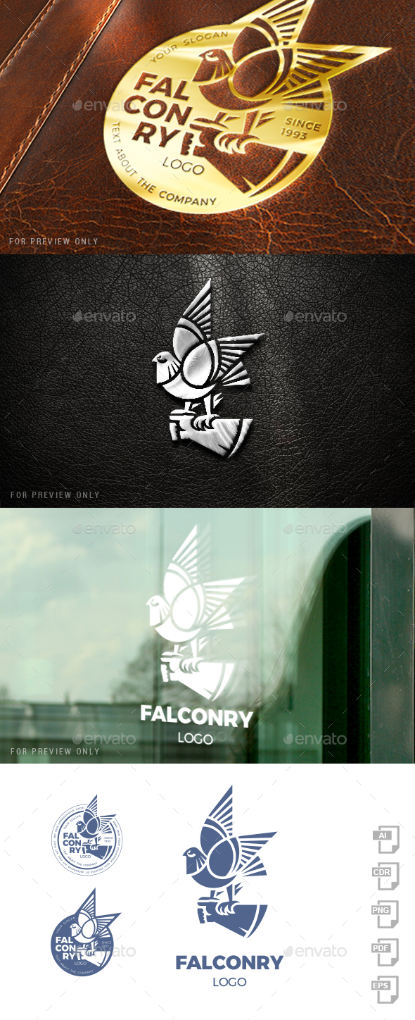 Falconry Logo Template - Animals Logo Templates