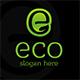 Eco Logo E Letter
