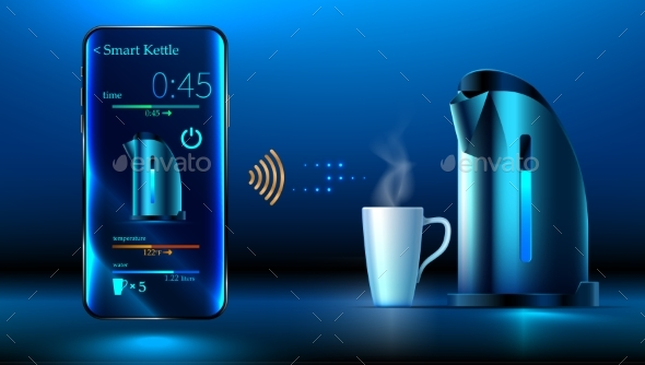 GraphicRiver Smart Electric Kettle 20899359