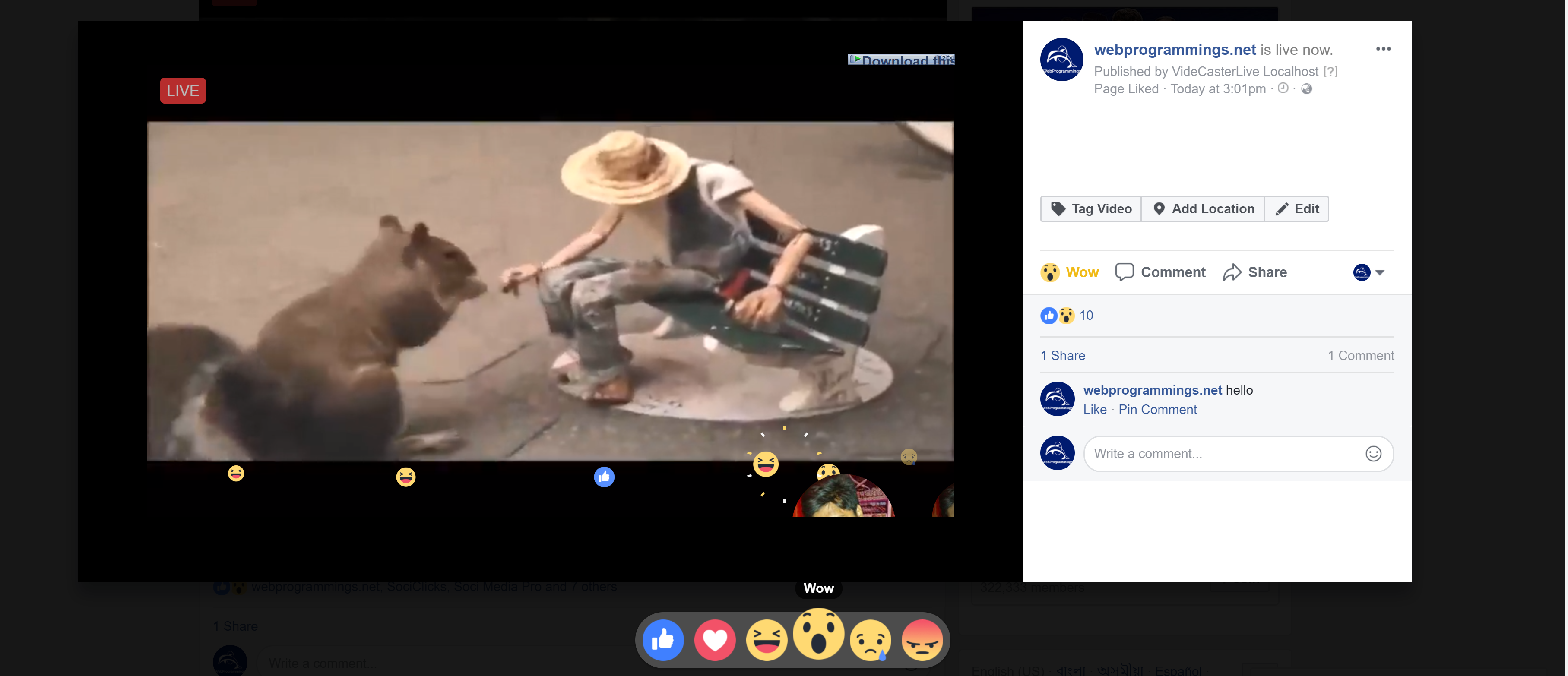 VidCasterLive - Go Live with Pre-recorded Video on Facebook