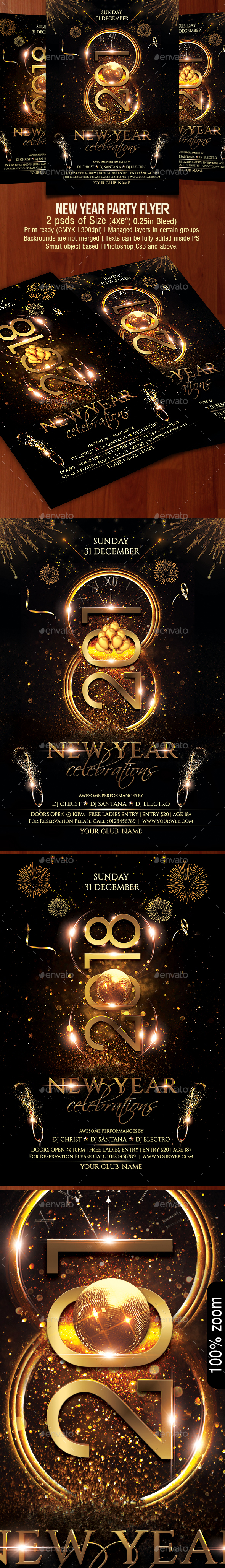 GraphicRiver New Year Party Flyer 20899426