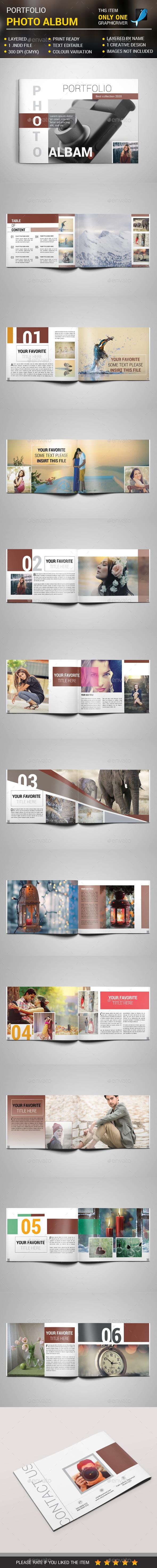 Portfolio Photo Album - Photo Albums Print Templates