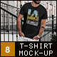 T-Shirt Mock-Up Stylish Men - GraphicRiver Item for Sale