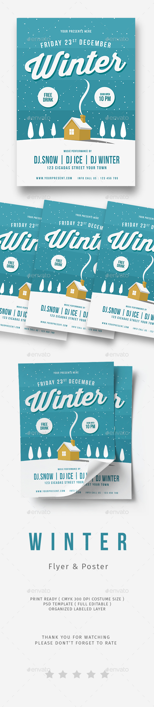 GraphicRiver Winter Flyer 20899762