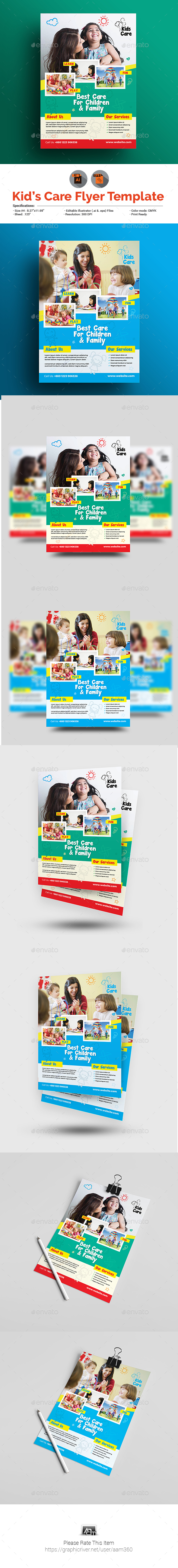 GraphicRiver Kids Care Flyer 20899845