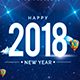 Happy 2018 New Year Flyer - GraphicRiver Item for Sale