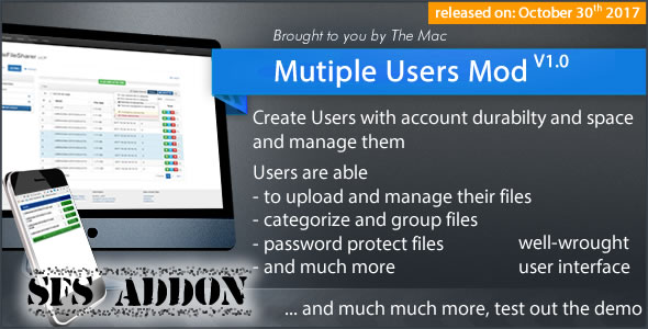 CodeCanyon Multiple Users Mod A Simple File Sharer Module Addon 20899893