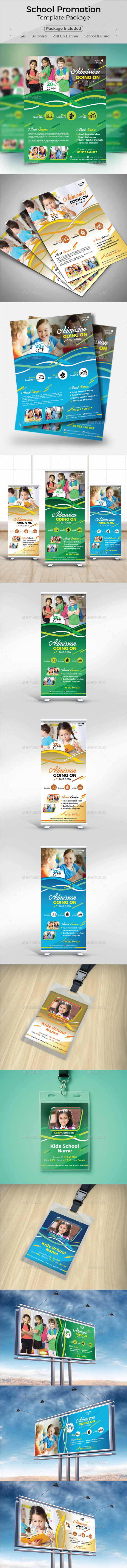 School Promotional Template Package - Flyers Print Templates