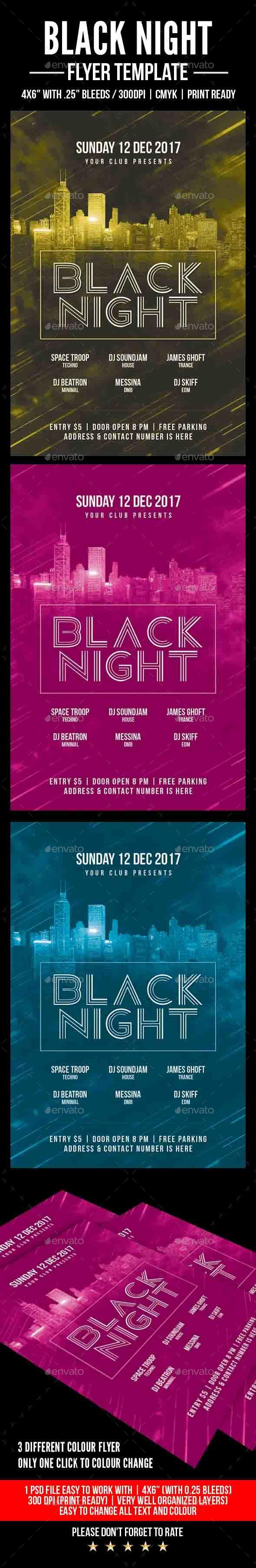 Black Night Flyer - Events Flyers