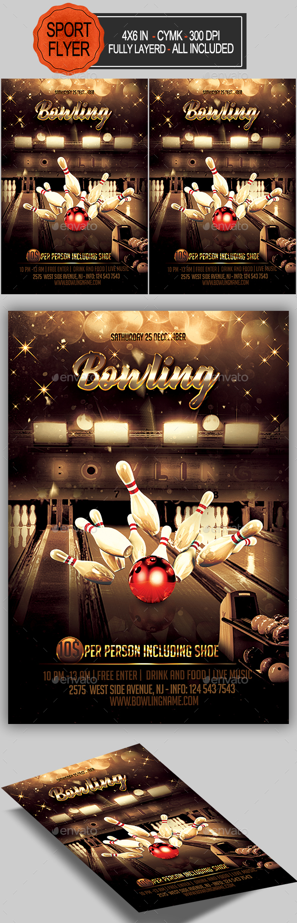 GraphicRiver Bowling Flyer 20900206