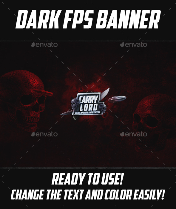 Youtube FPS Banner PSD Template - YouTube Social Media