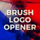 Brush Logo Opener - VideoHive Item for Sale
