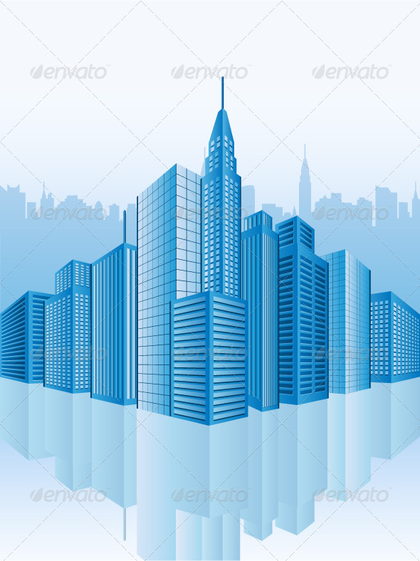 Image of office buildings - Buildings Objects