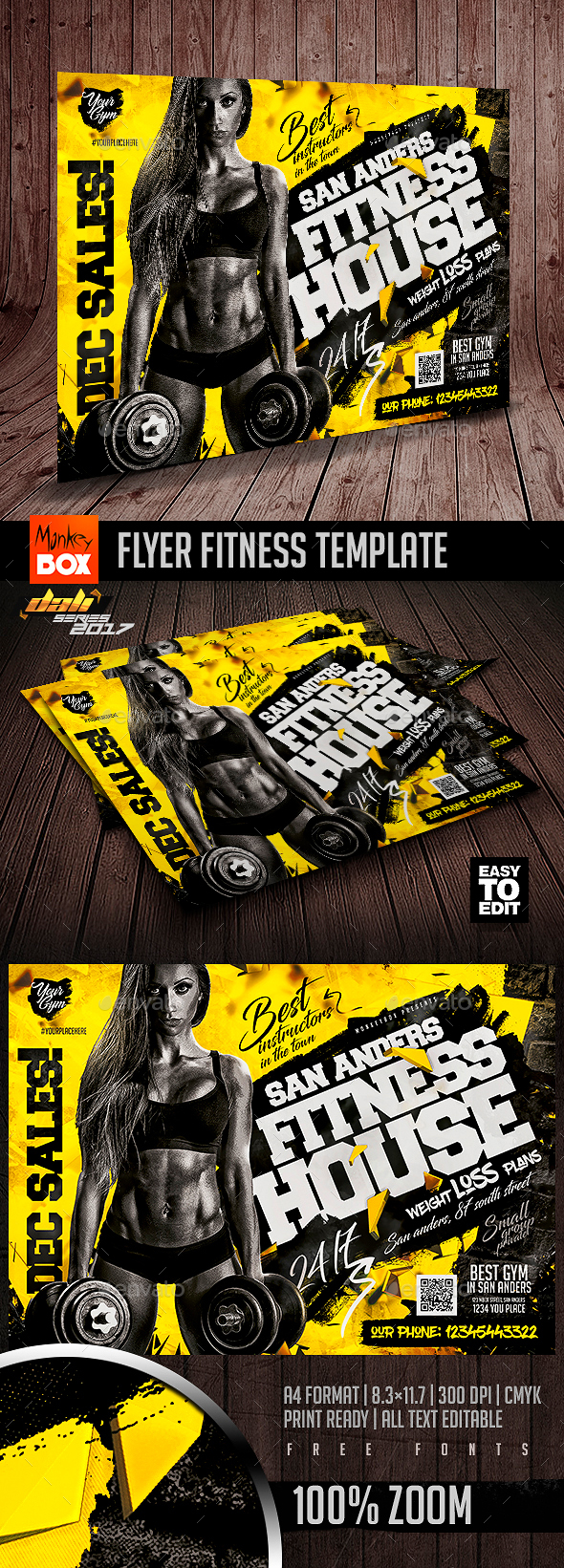 Flyer Fitness Template - Flyers Print Templates