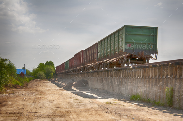 railway truck parked - Stock Photo - Images